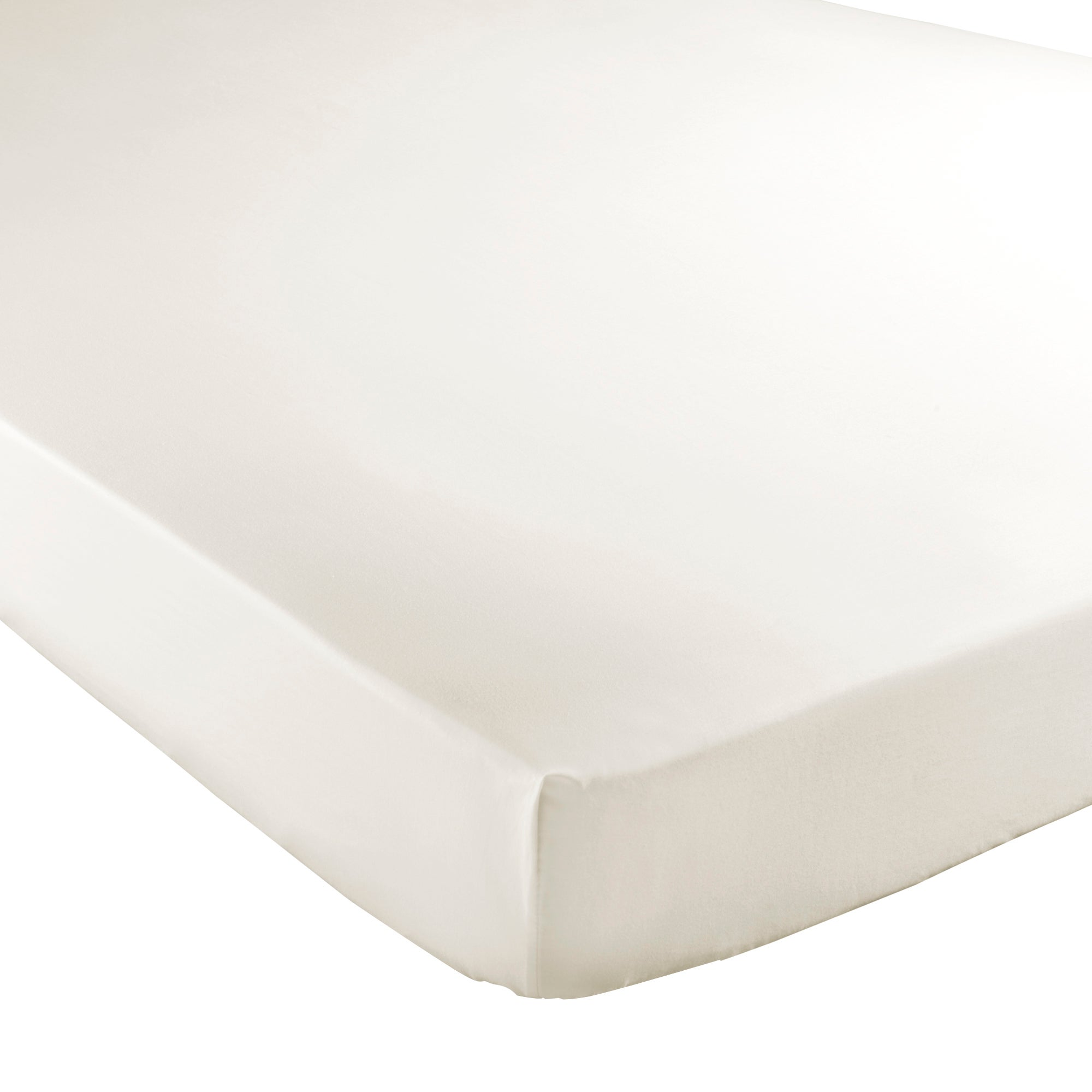 Cream Hotel Pima Plain 400 Thread Count Collection Fitted Sheet
