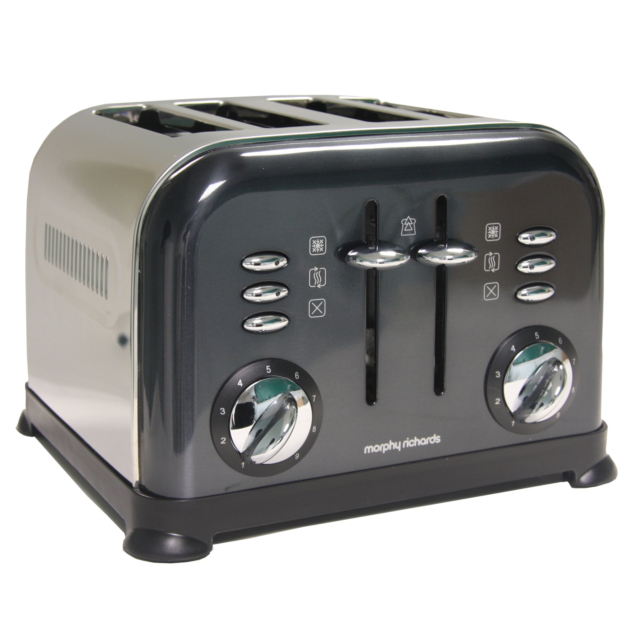 Morphy Richards Accents Black 4 Slice Toaster