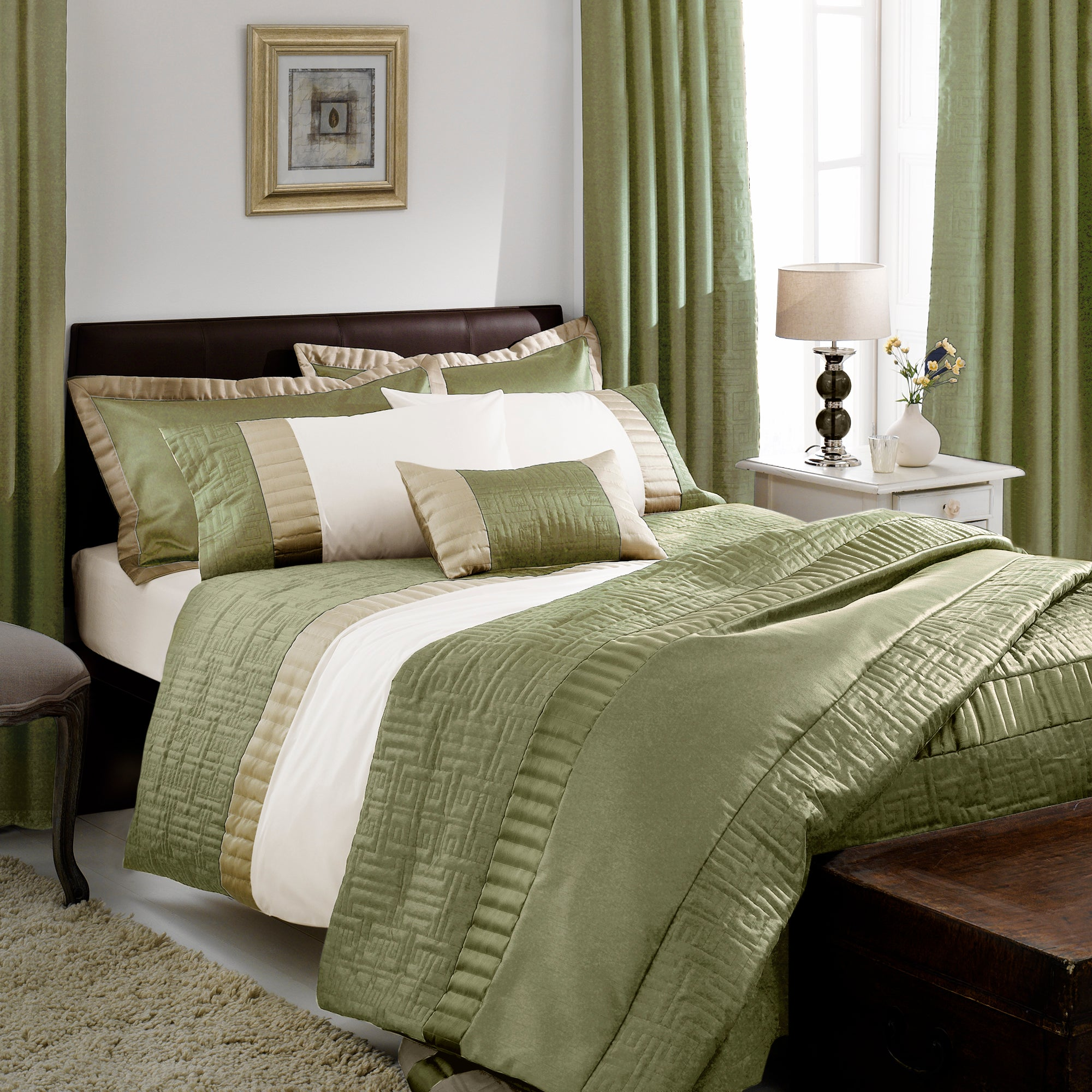 Green Athens Collection Duvet Cover