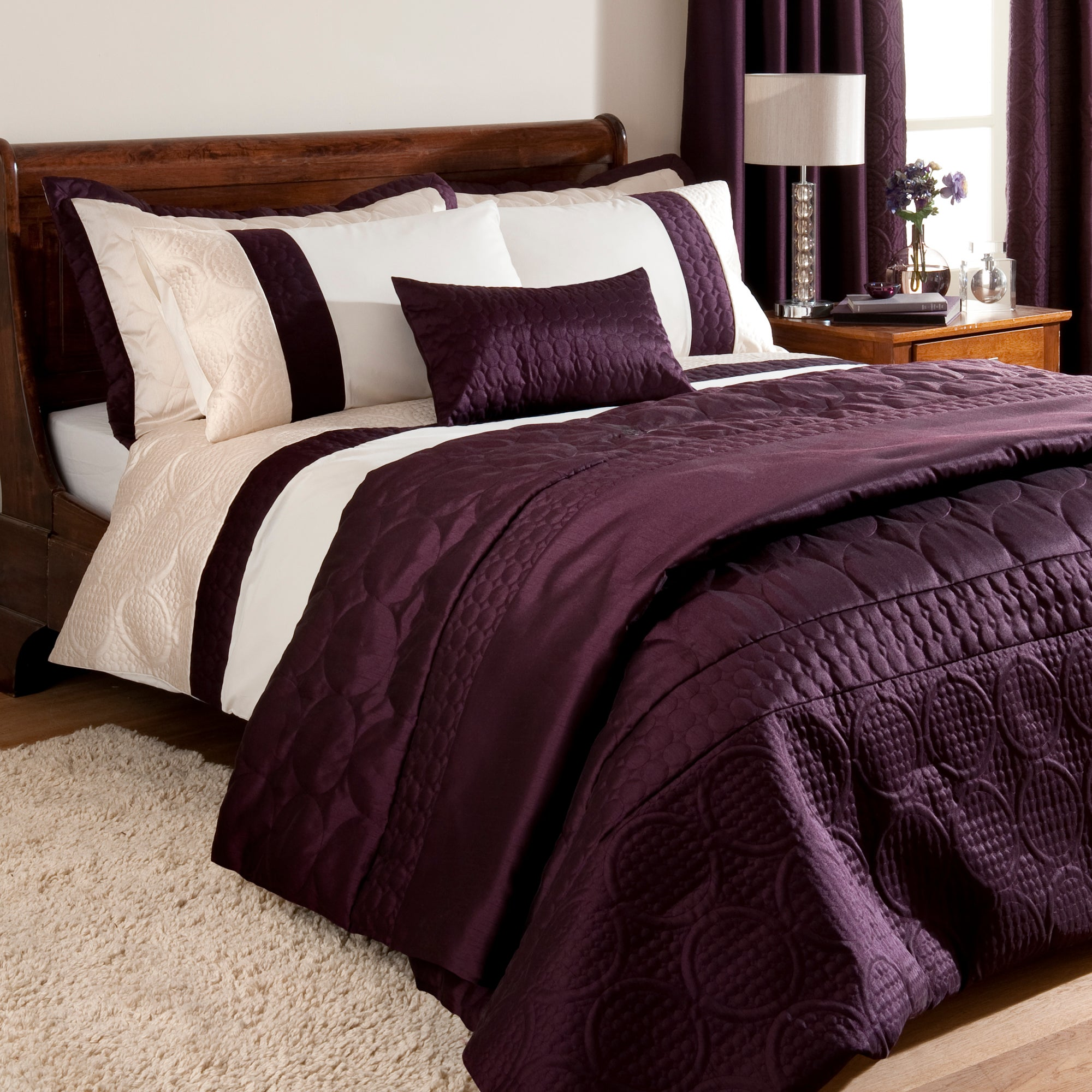 Plum Circles Collection Duvet Cover