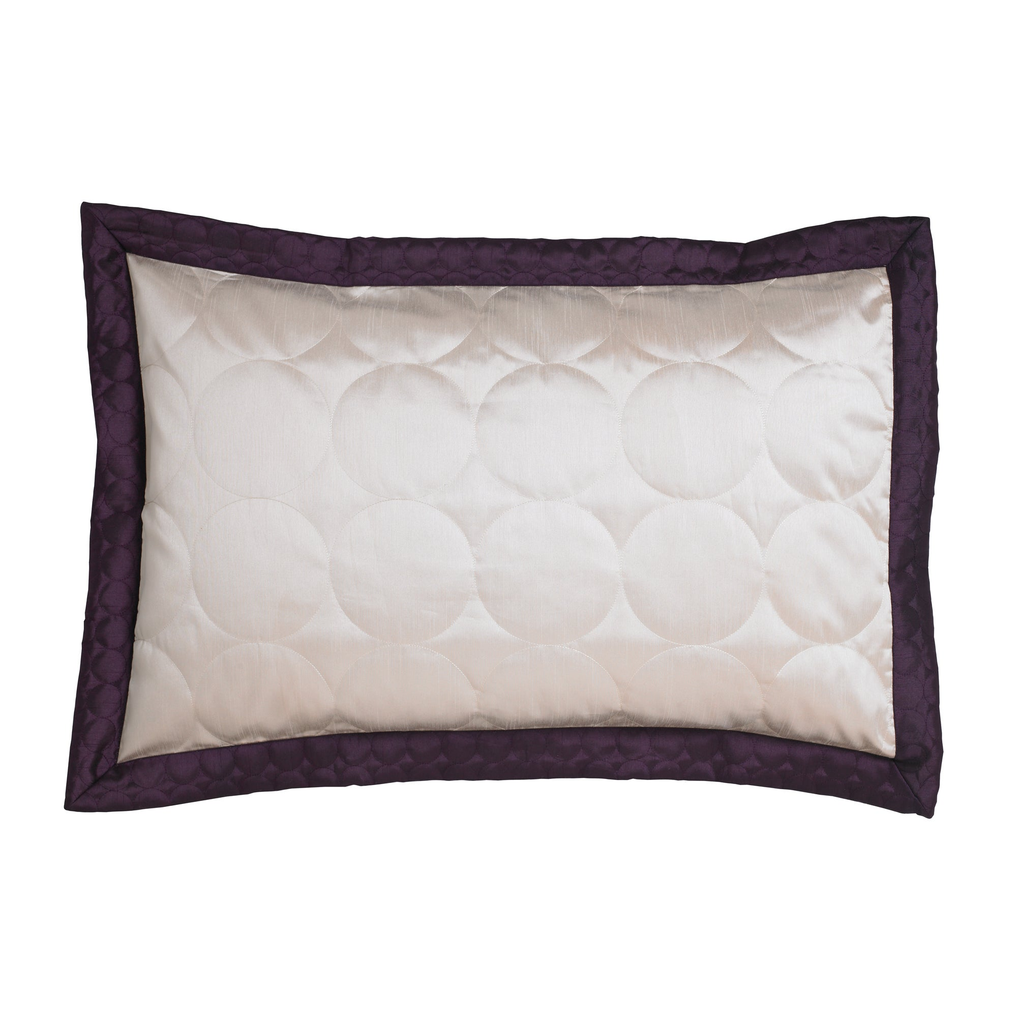Plum Circles Collection Oxford Pillowcase