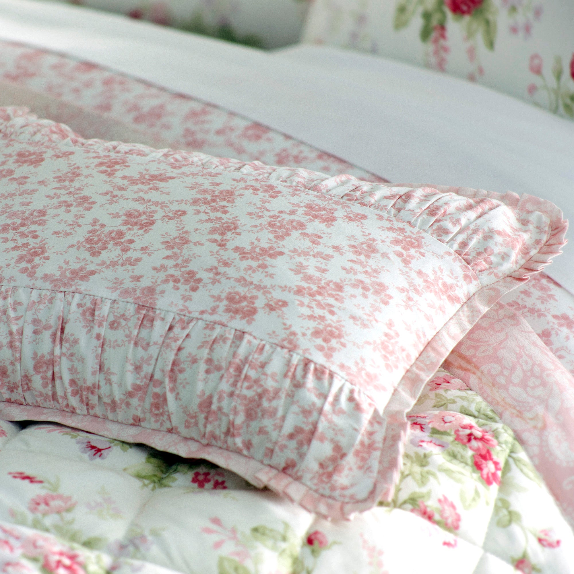 Dorma Pink Elsie Collection Boudoir Cushion Cover