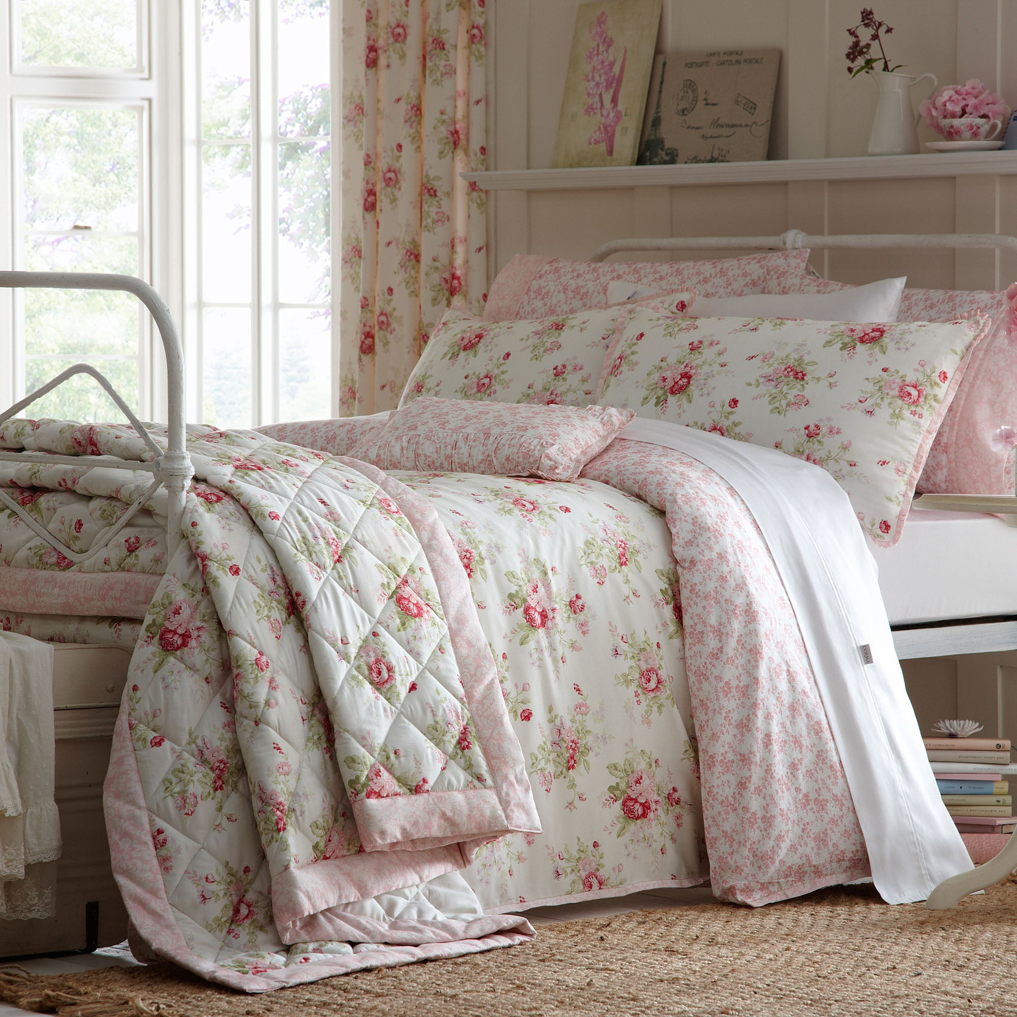 Dorma Pink Elsie Collection Duvet Cover