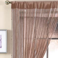 Brown Beaded String Curtain