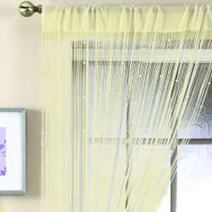 Ivory Beaded String Curtain