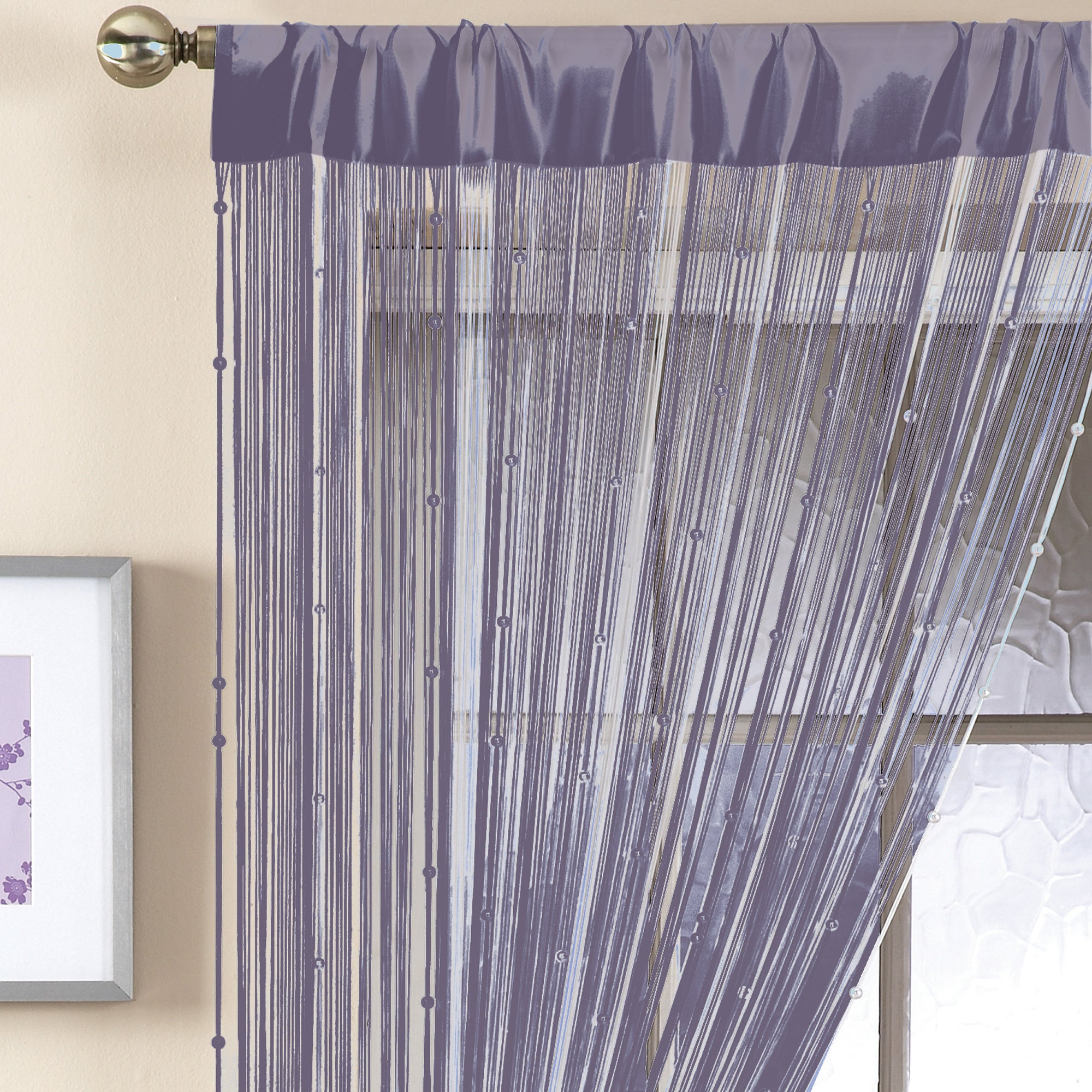Silver Beaded String Curtain Collection
