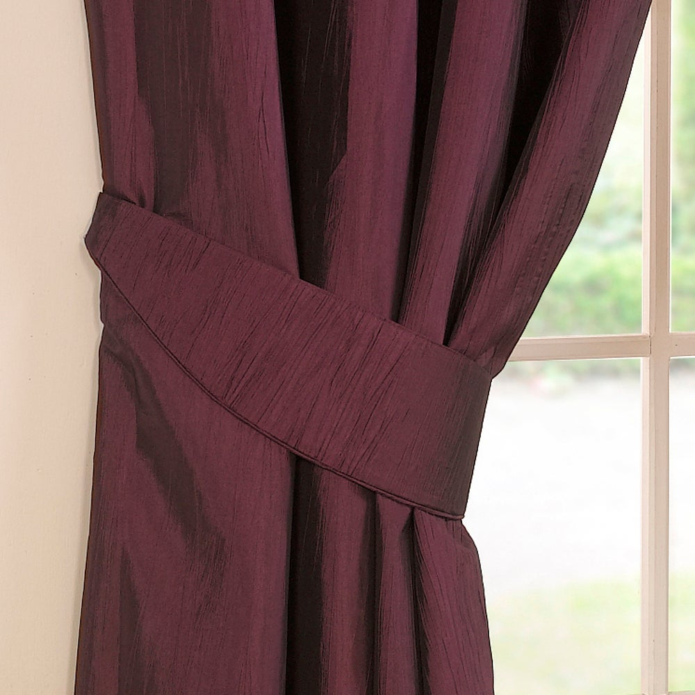 Aubergine Crushed Taffeta Collection Tiebacks