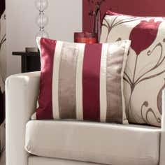 Wine Lalique Collection Striped Cushion