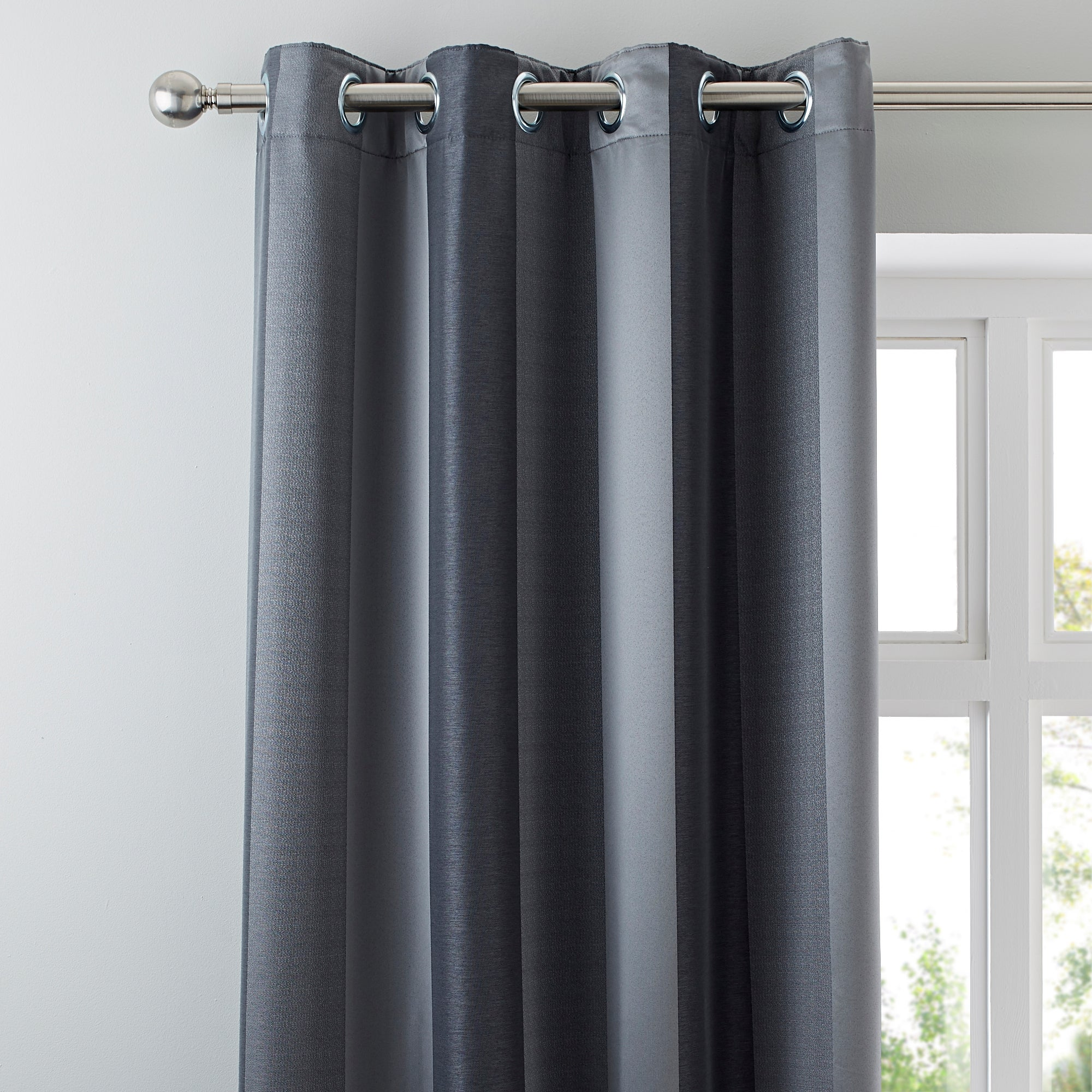 Pewter Monaco Lined Eyelet Curtains