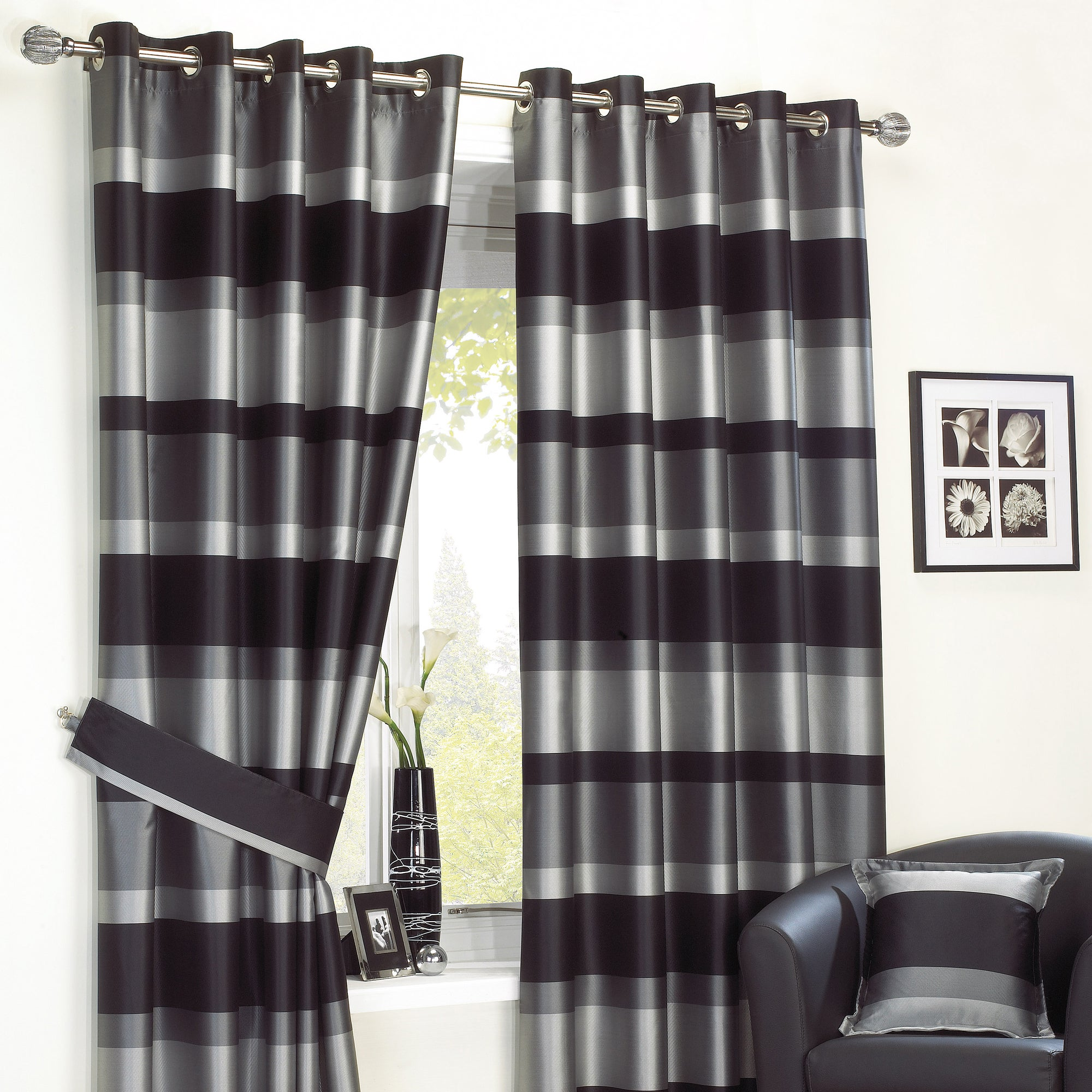 Black Newport Curtain Collection