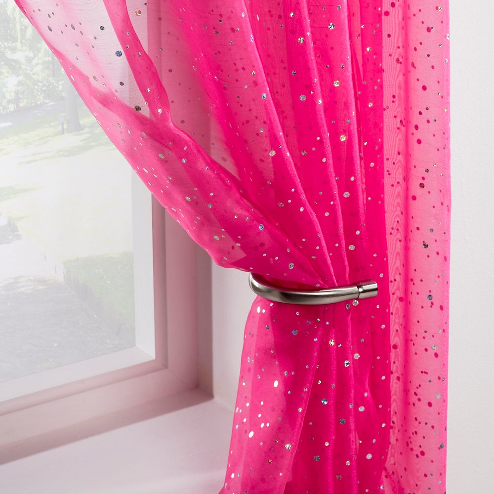 Pink Sparkle Voile Panel