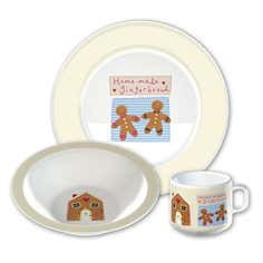 Kids Gingerbread Man Collection Melamine Set