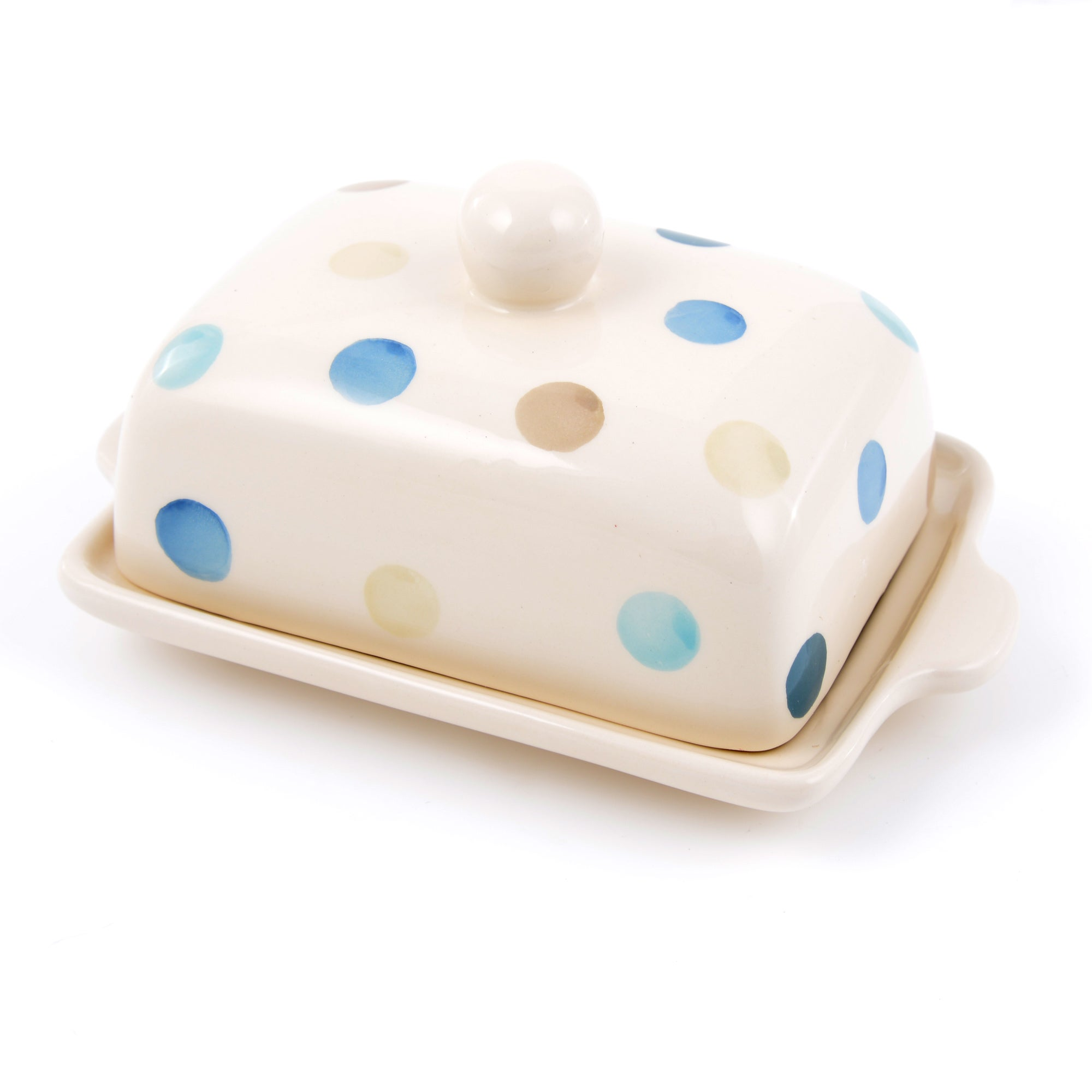 Blue Country Spot Collection Butter Dish with Lid