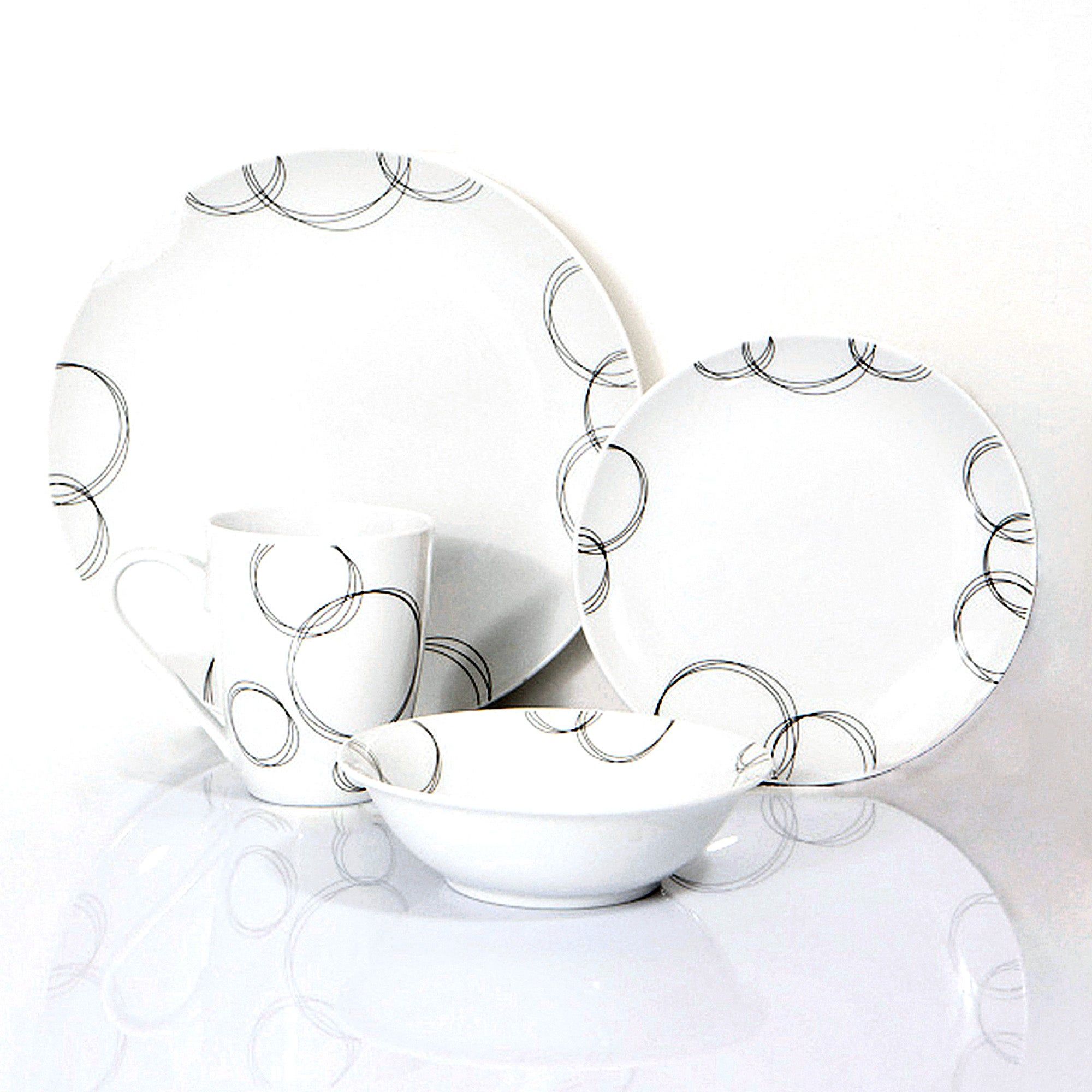 Ellipse Collection 16 Piece Dinner Set