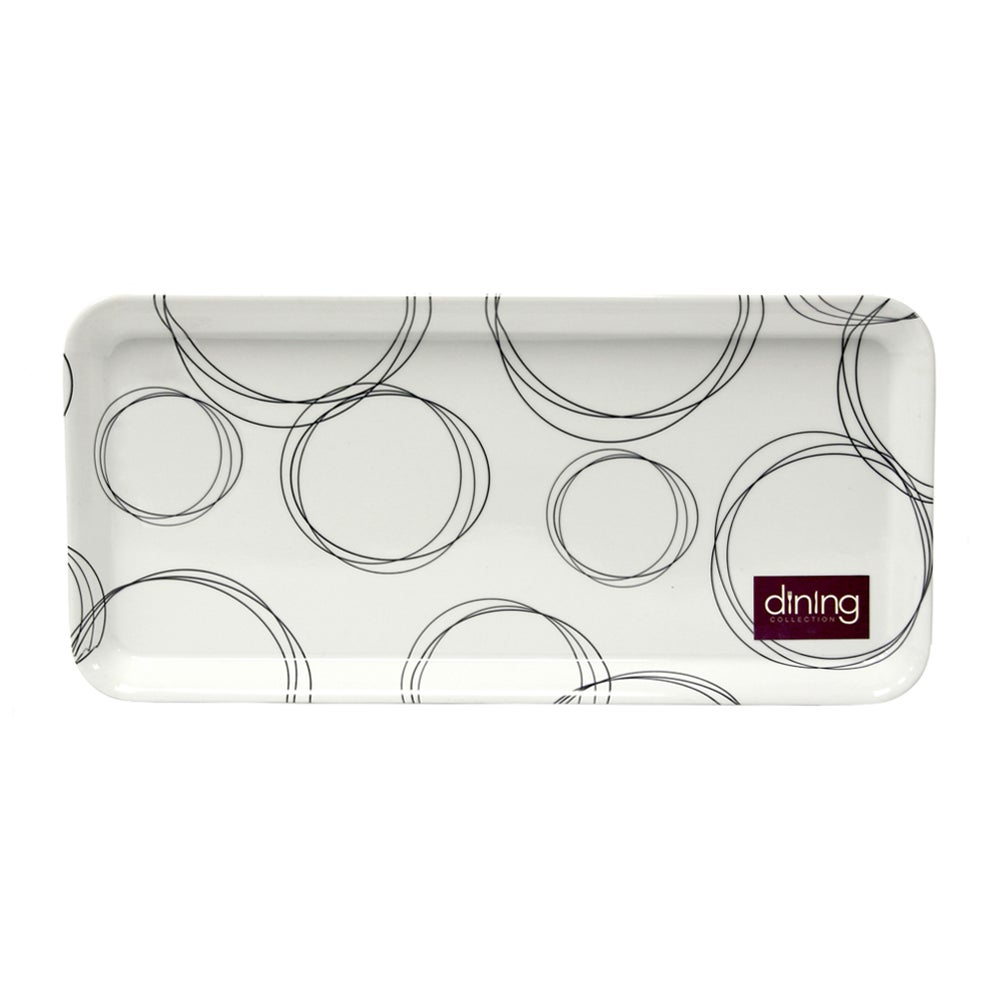 Black & White Ellipse Collection Sandwich Tray
