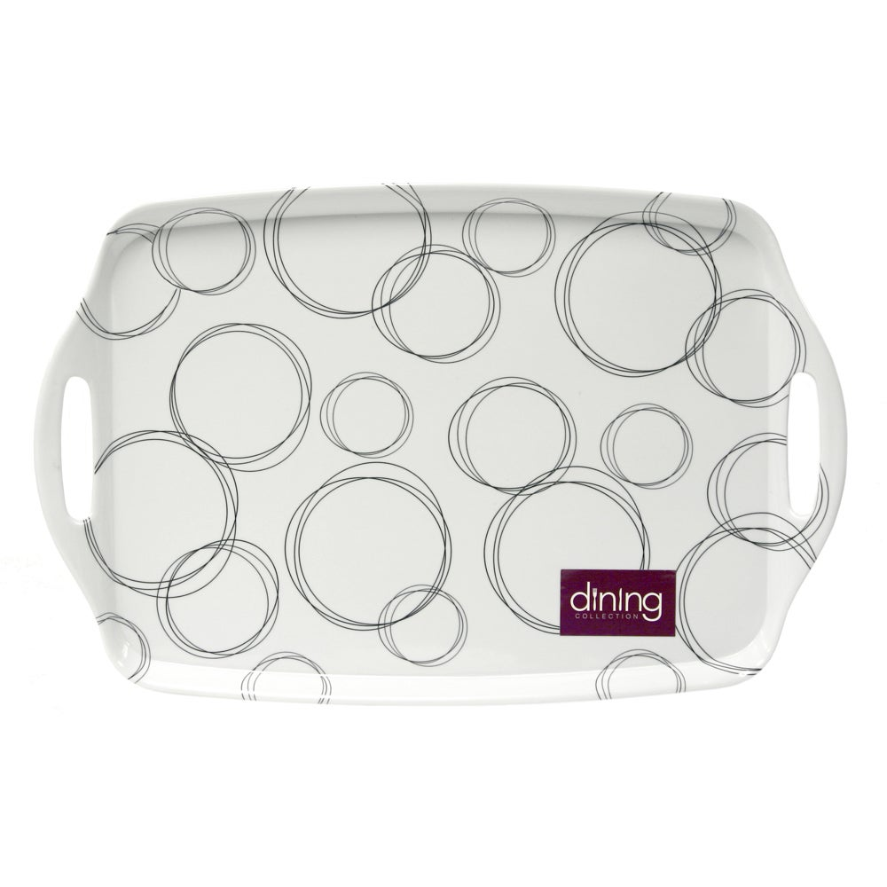White Ellipse Collection Tea Tray