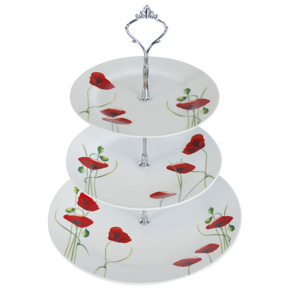 Poppy Collection 3 Tier Cake Stand