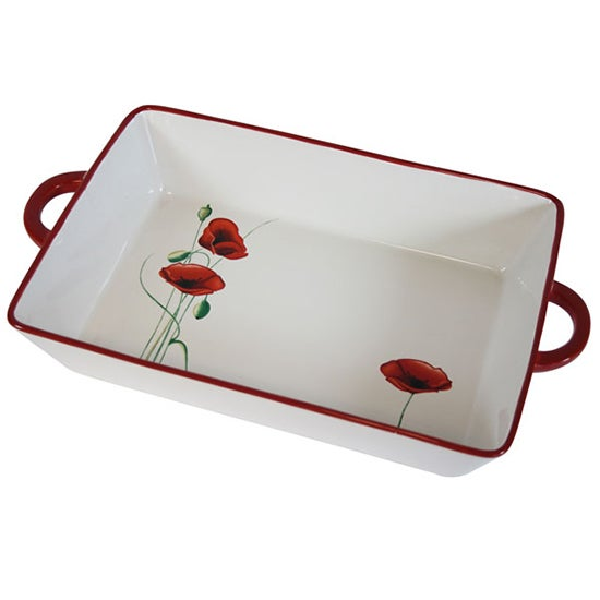 Poppy Collection Rectangular Dish