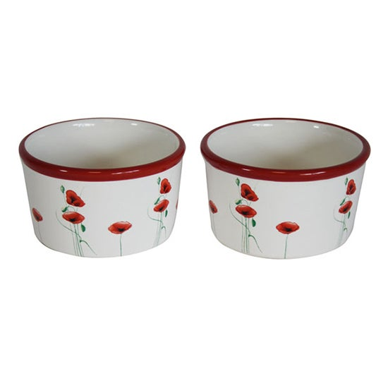 Poppy Collection Set of 2 Ramekins