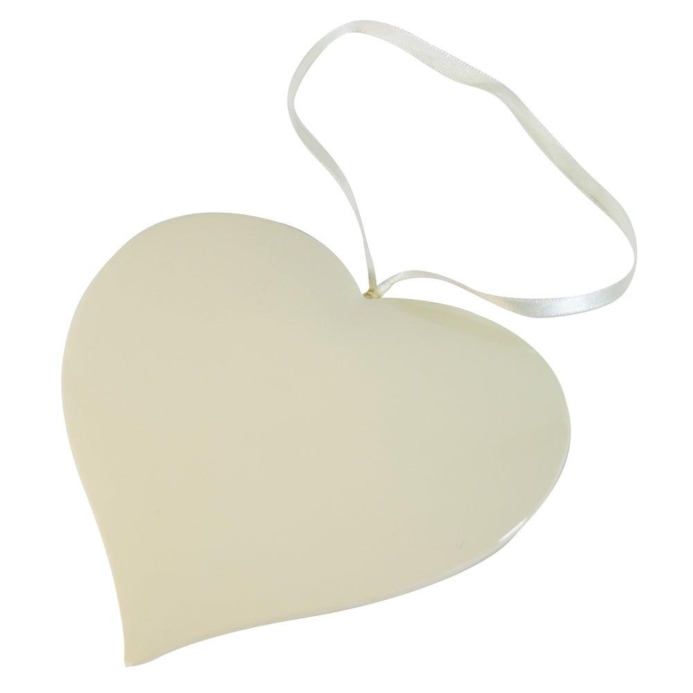 Aqua Haze Collection Ceramic Hanging Heart
