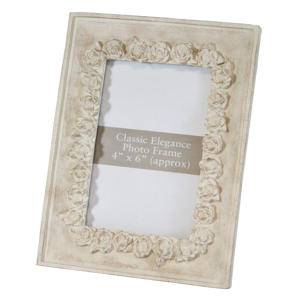 Classic Elegance Embossed Rose Frame