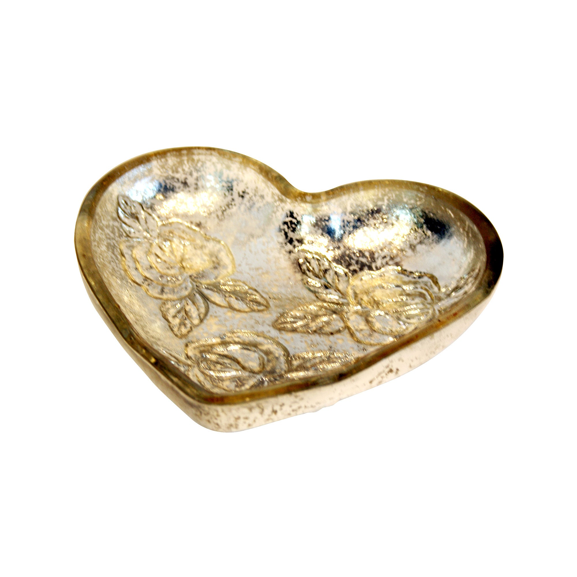 Classic Elegance Collection Glass Heart Dish