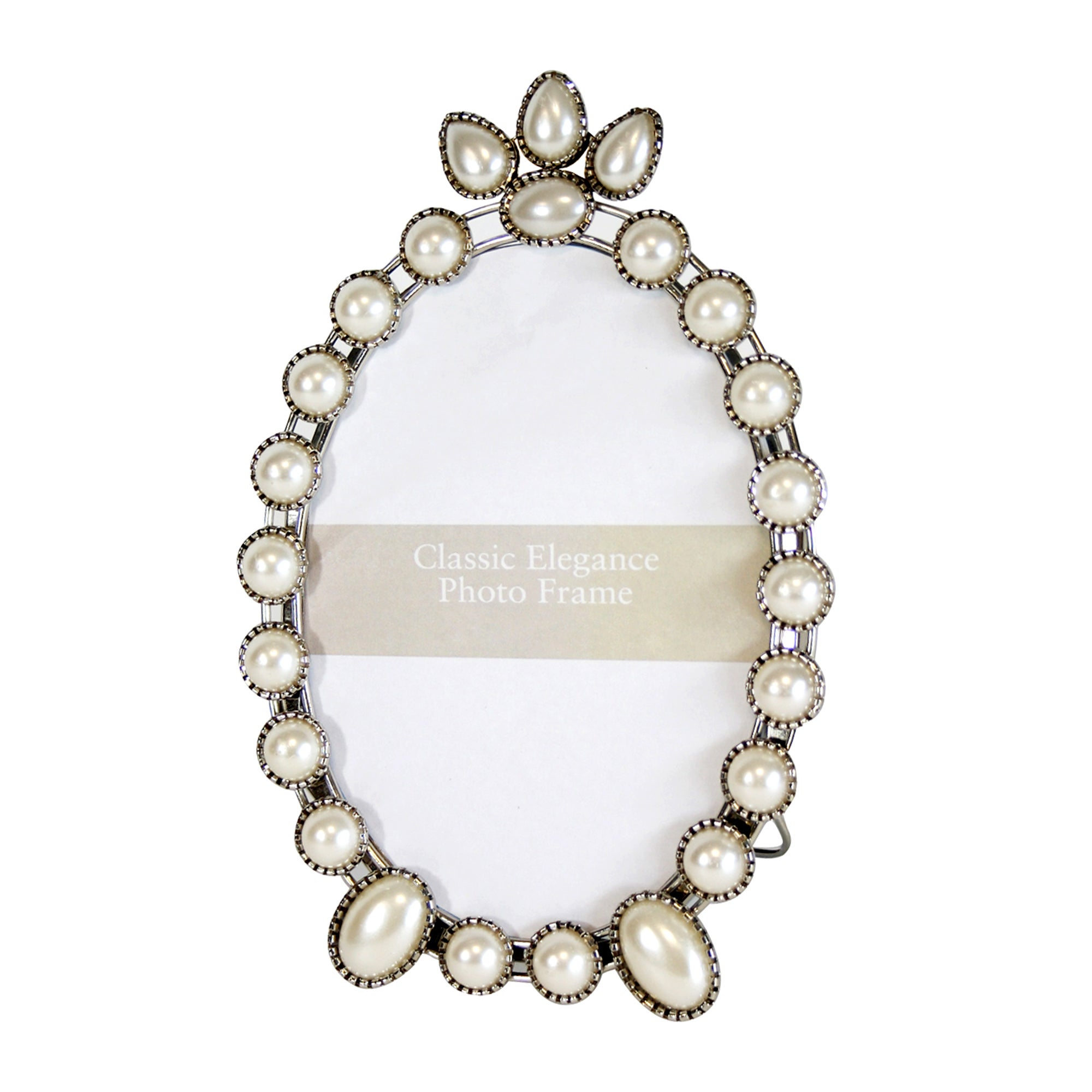 Classic Elegance Collection Pearlised Oval Frame