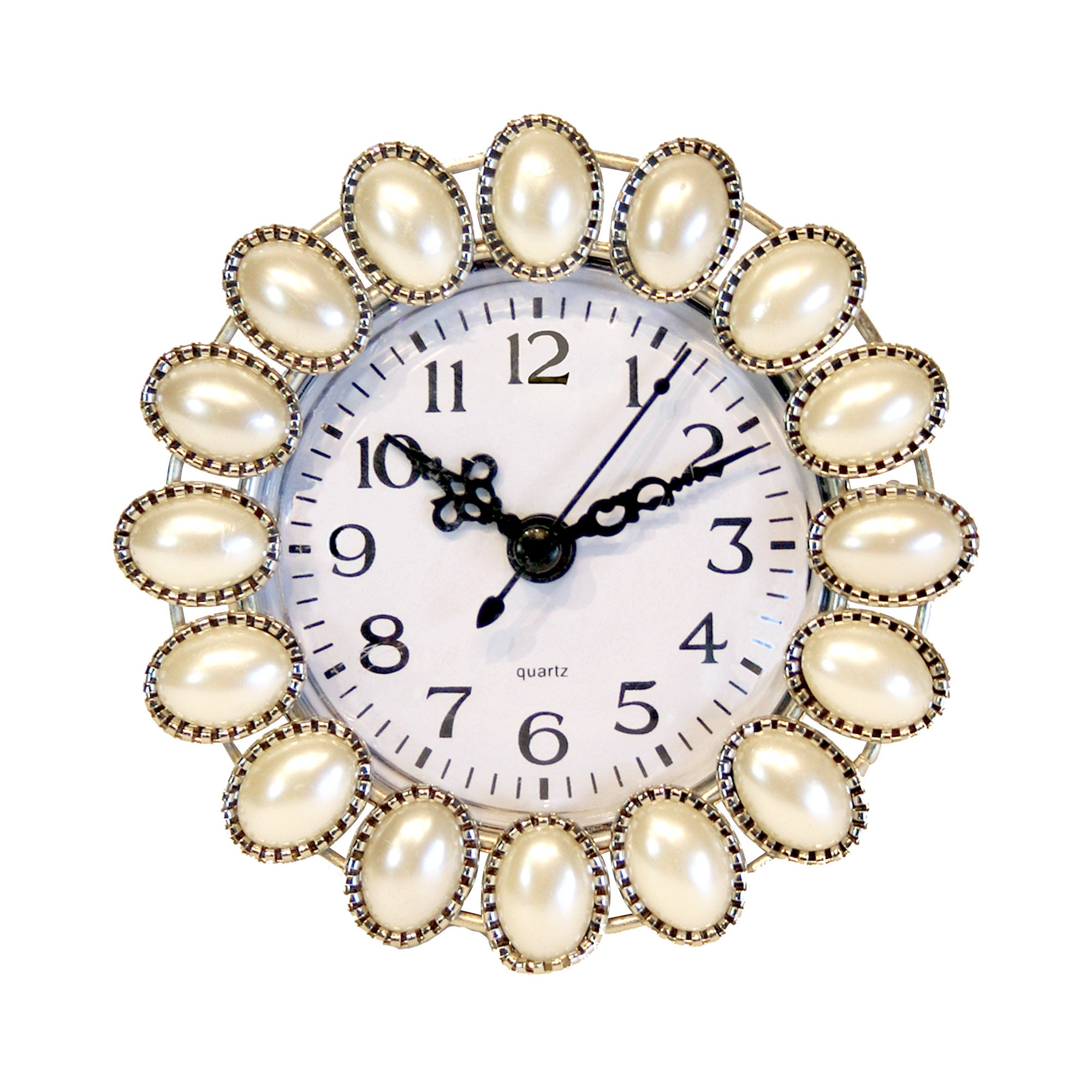 Classic Elegance Collection Pearlised Round Clock