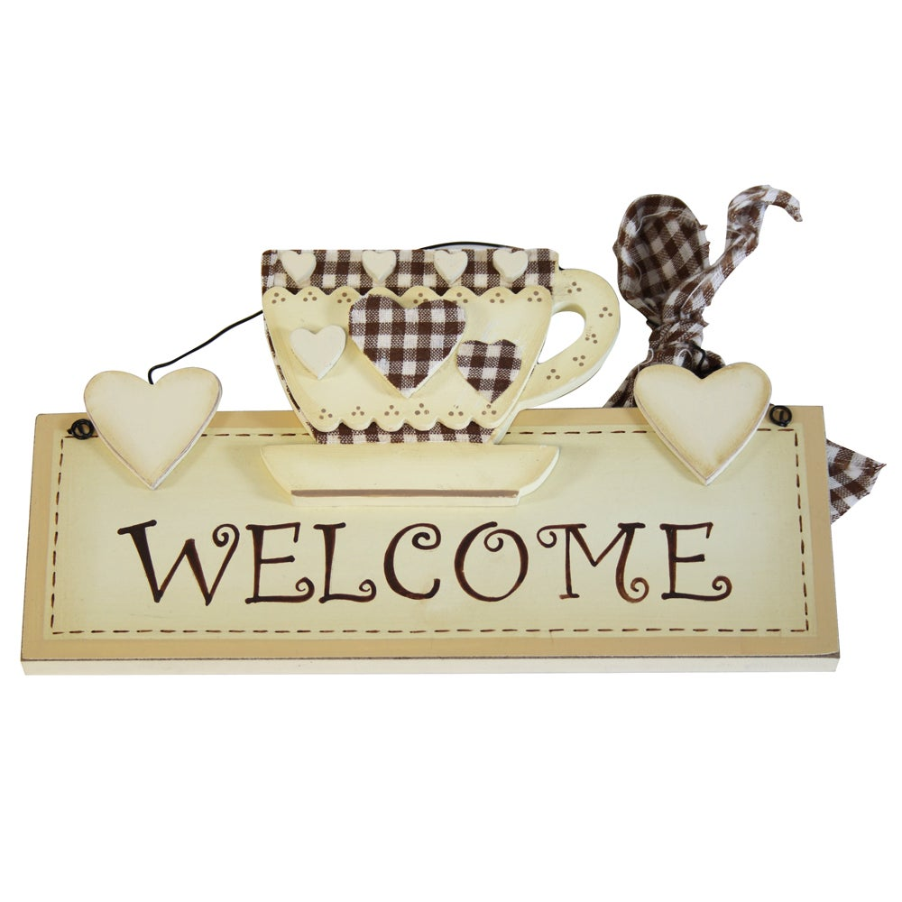 Classic Elegance Collection Welcome Plaque