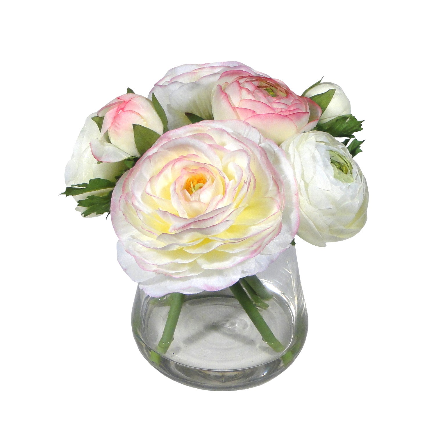 Cream Artificial Ranunculus in a Vase Arrangement