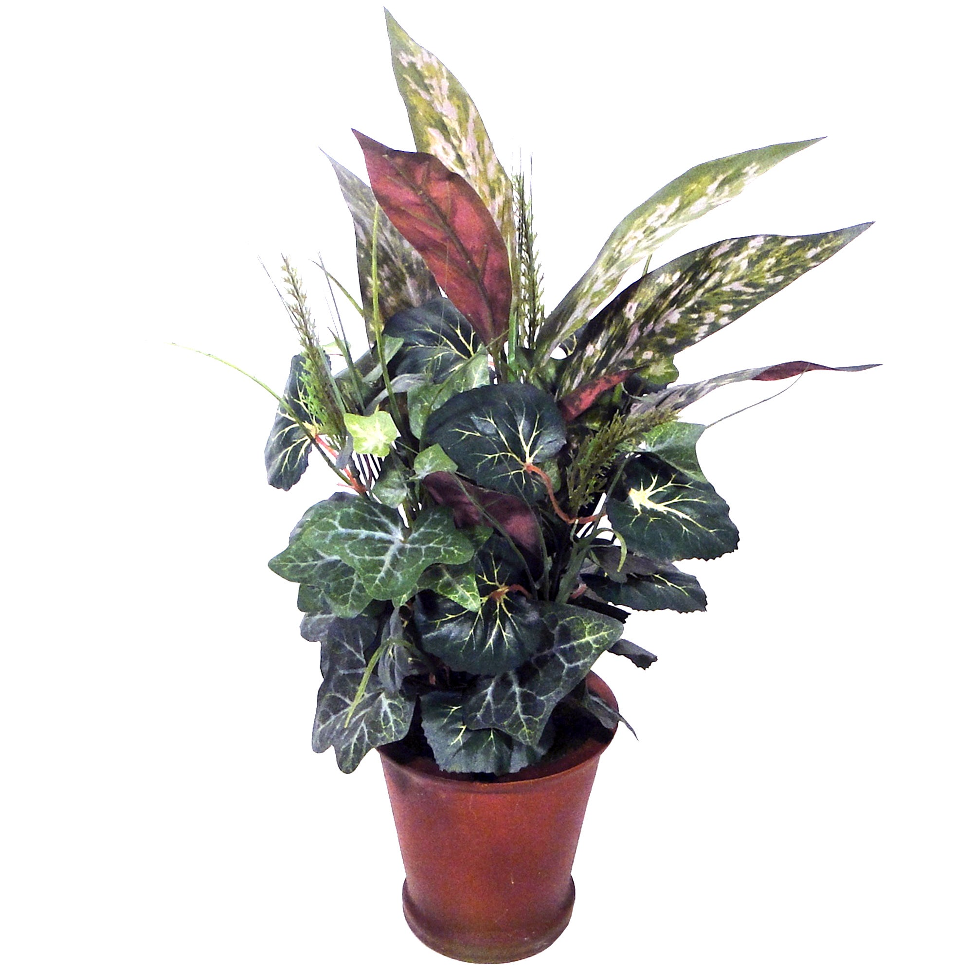 Artificial Silver King Foliage in Planter