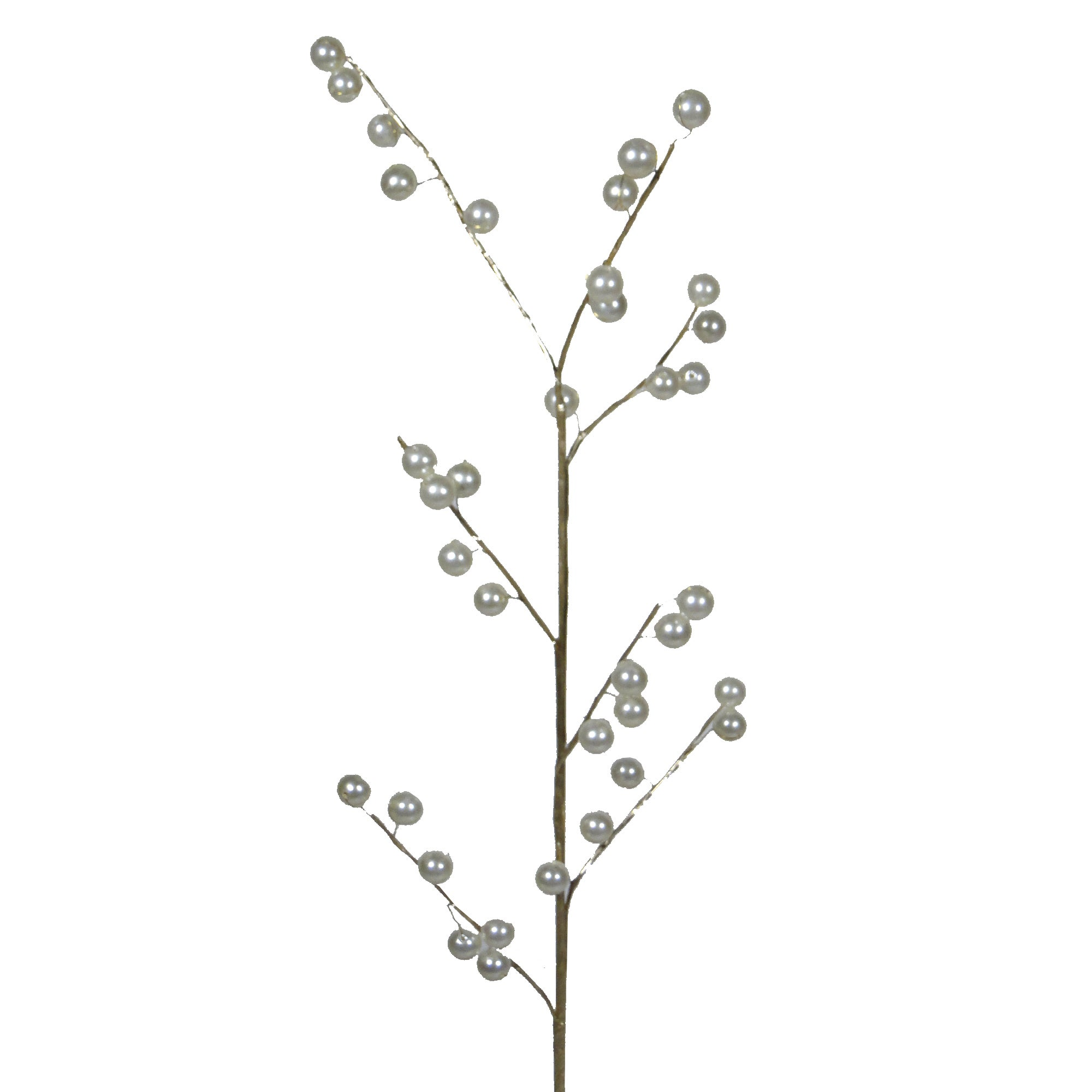 Artificial Pearlised Bead Flower Stem