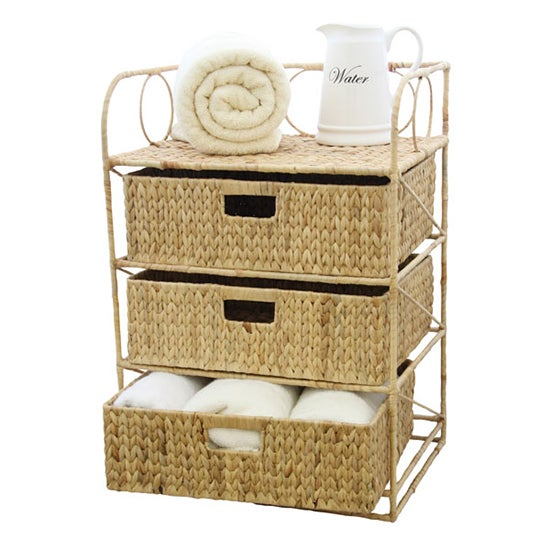 Hawthorne Water Hyacinth 3 Drawer Unit