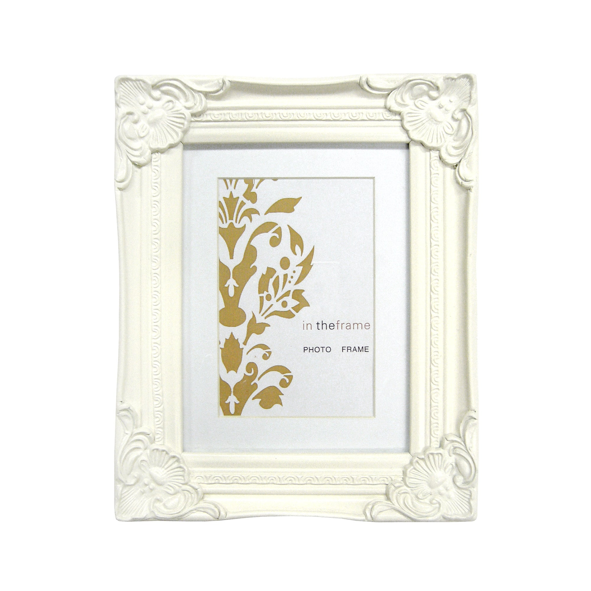 Cream Vintage Swept Photo Frame