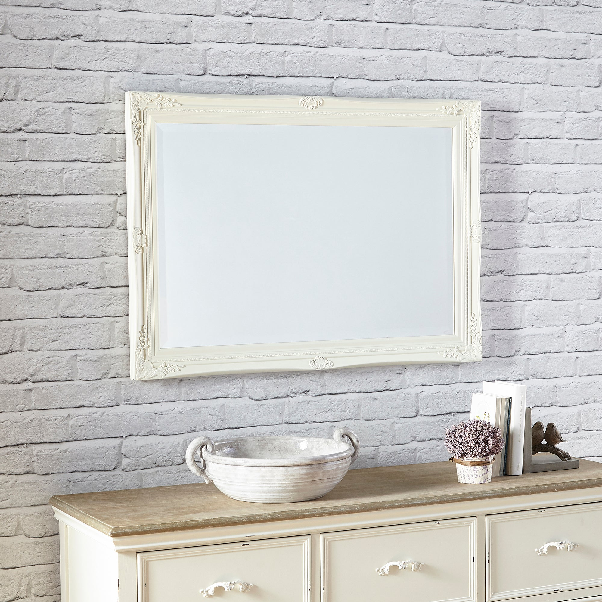 Vintage Swept Bevelled Mirror