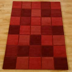 Red Quebec Wool Rug