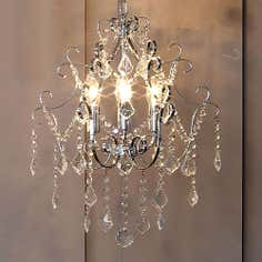 3 Light Crystal Glass Ceiling Fitting