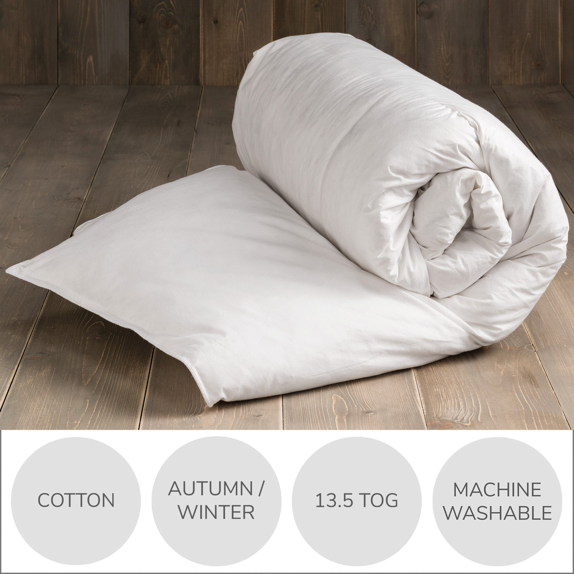 White Duck Feather and Down 13.5 Tog Duvet