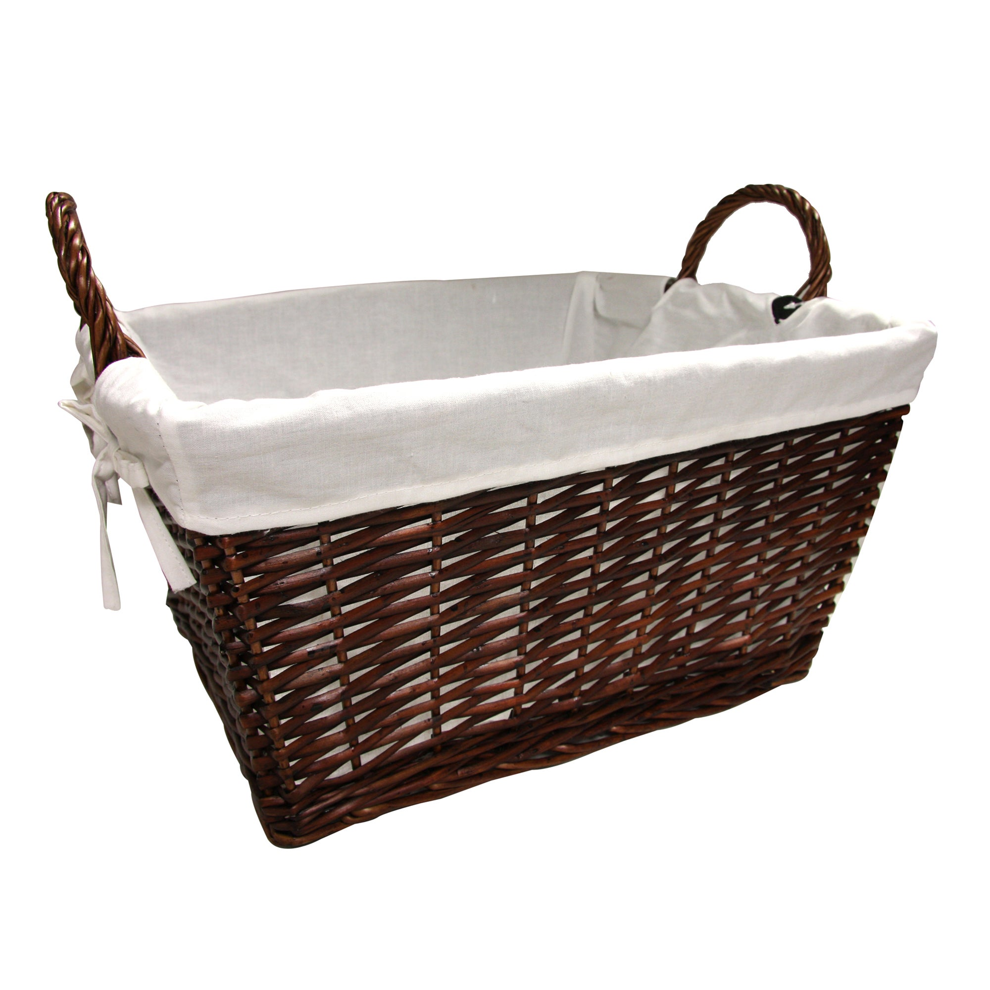 Chestnut Lined Bread Basket