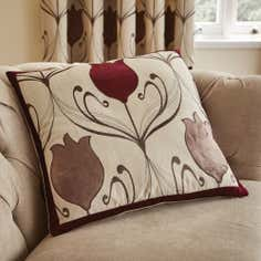 Wine Lalique Collection Flower Cushion