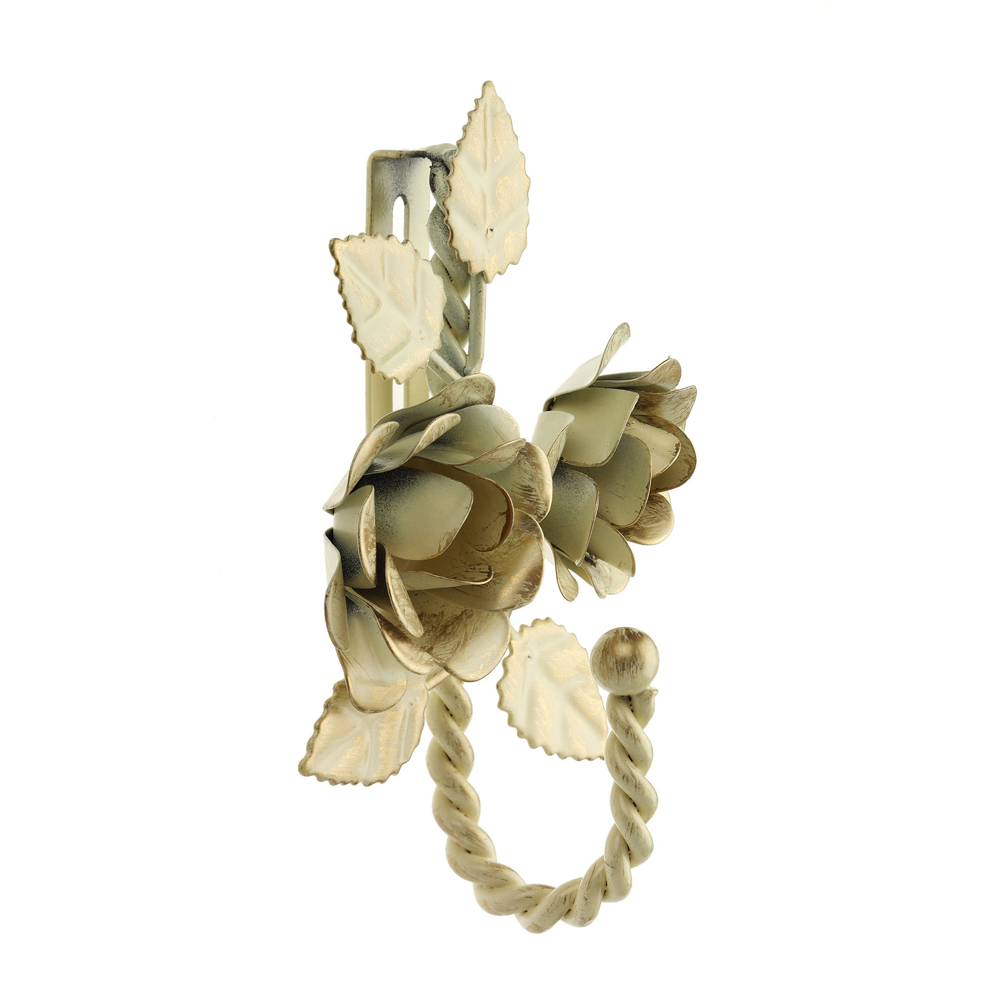 Vintage Collection Double Rose Twist Curtain Hook