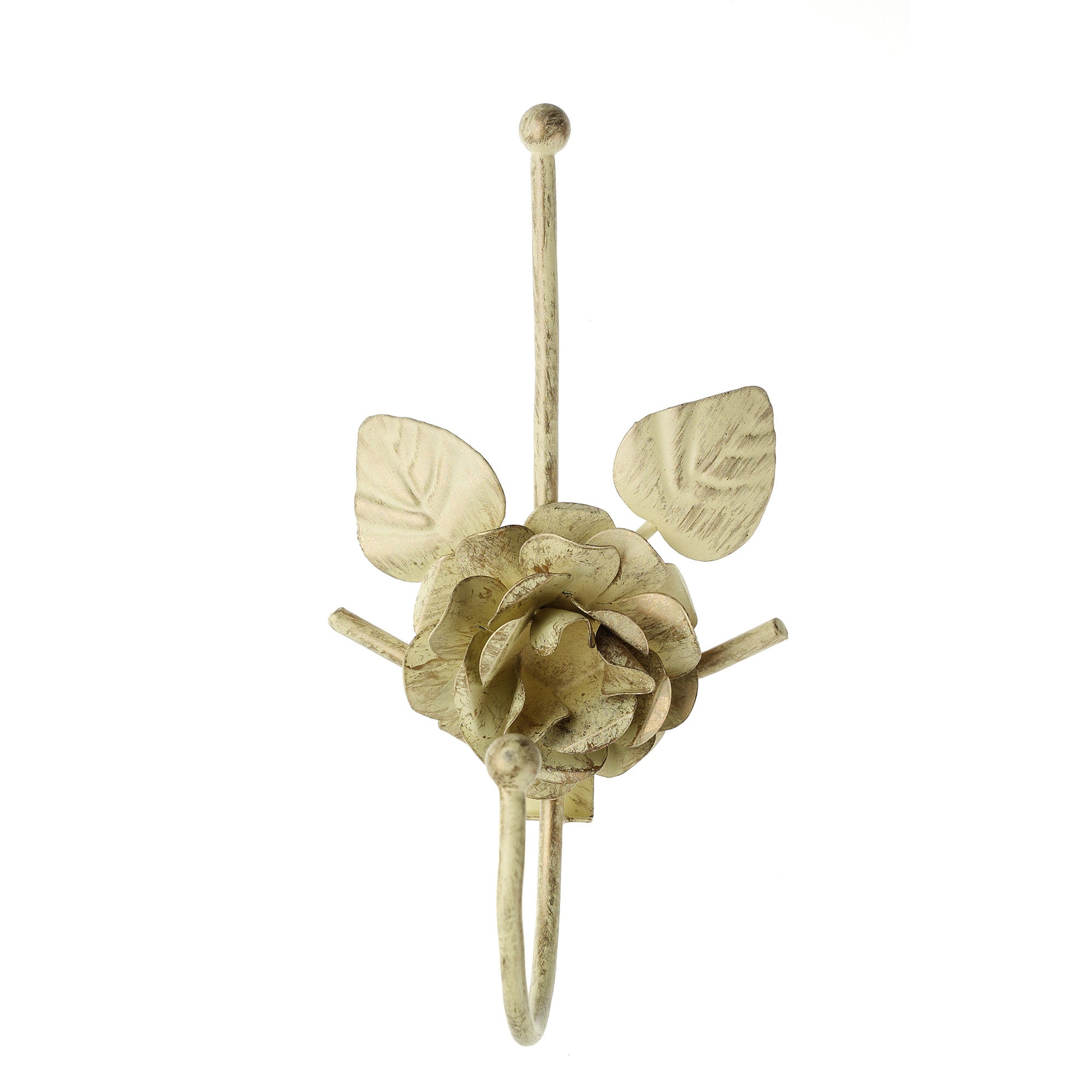 Vintage Collection Single Rose and Petals Curtain Hook