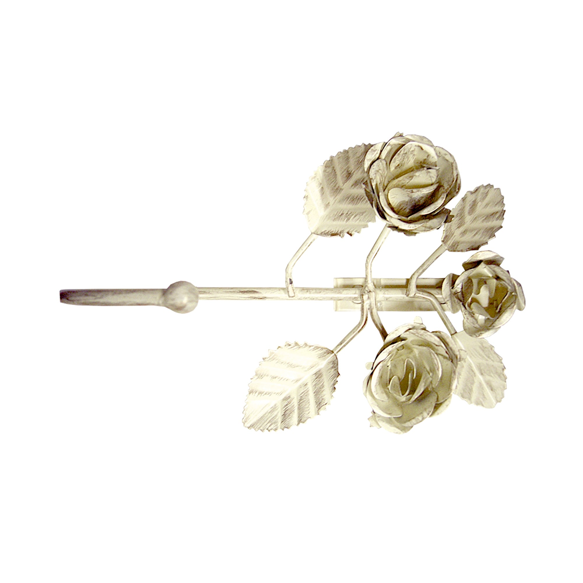 Vintage Collection 3 Roses Curtain Hook