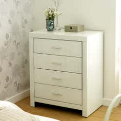Venetian White 4 Drawer Chest