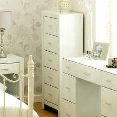 Venetian White 5 Drawer Chest