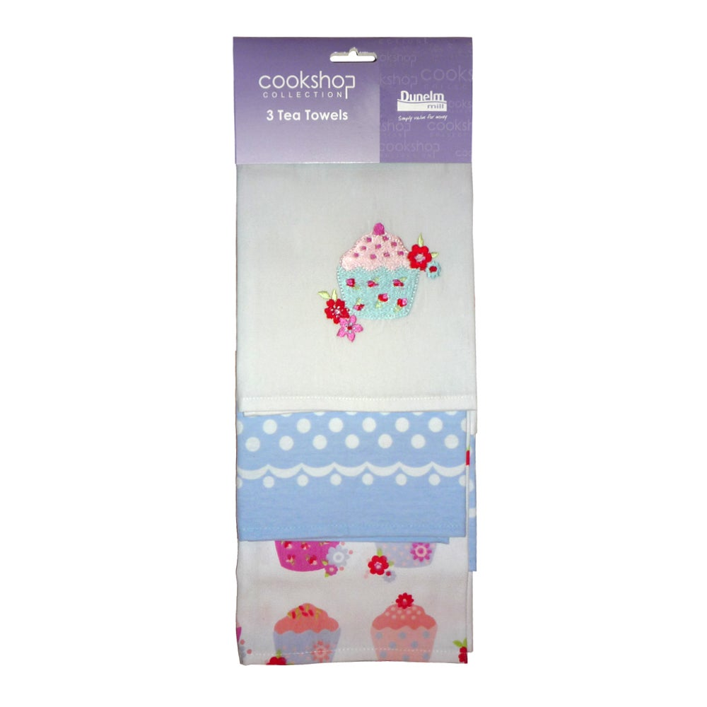 Pack of 3 Cupcakes Tea Towels