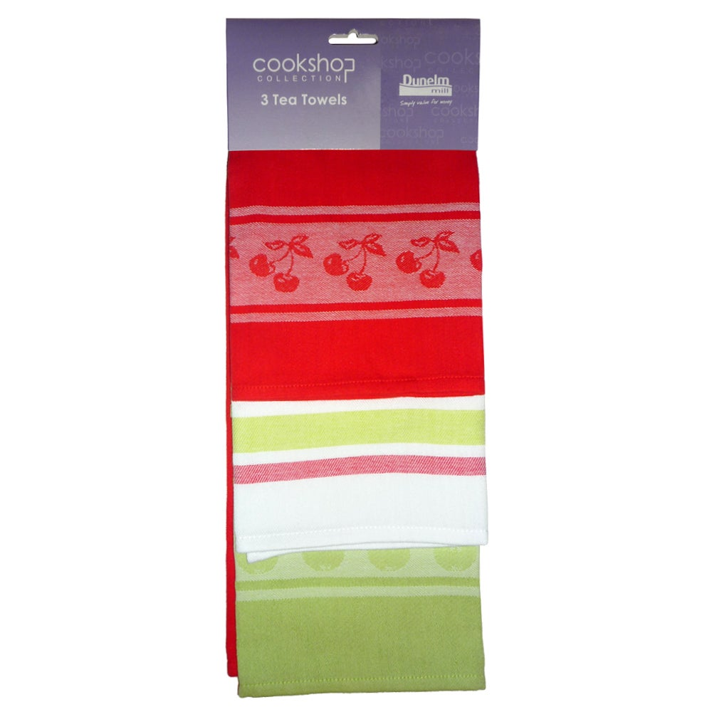 Pack of 3 Juicy Fruits Tea Towels