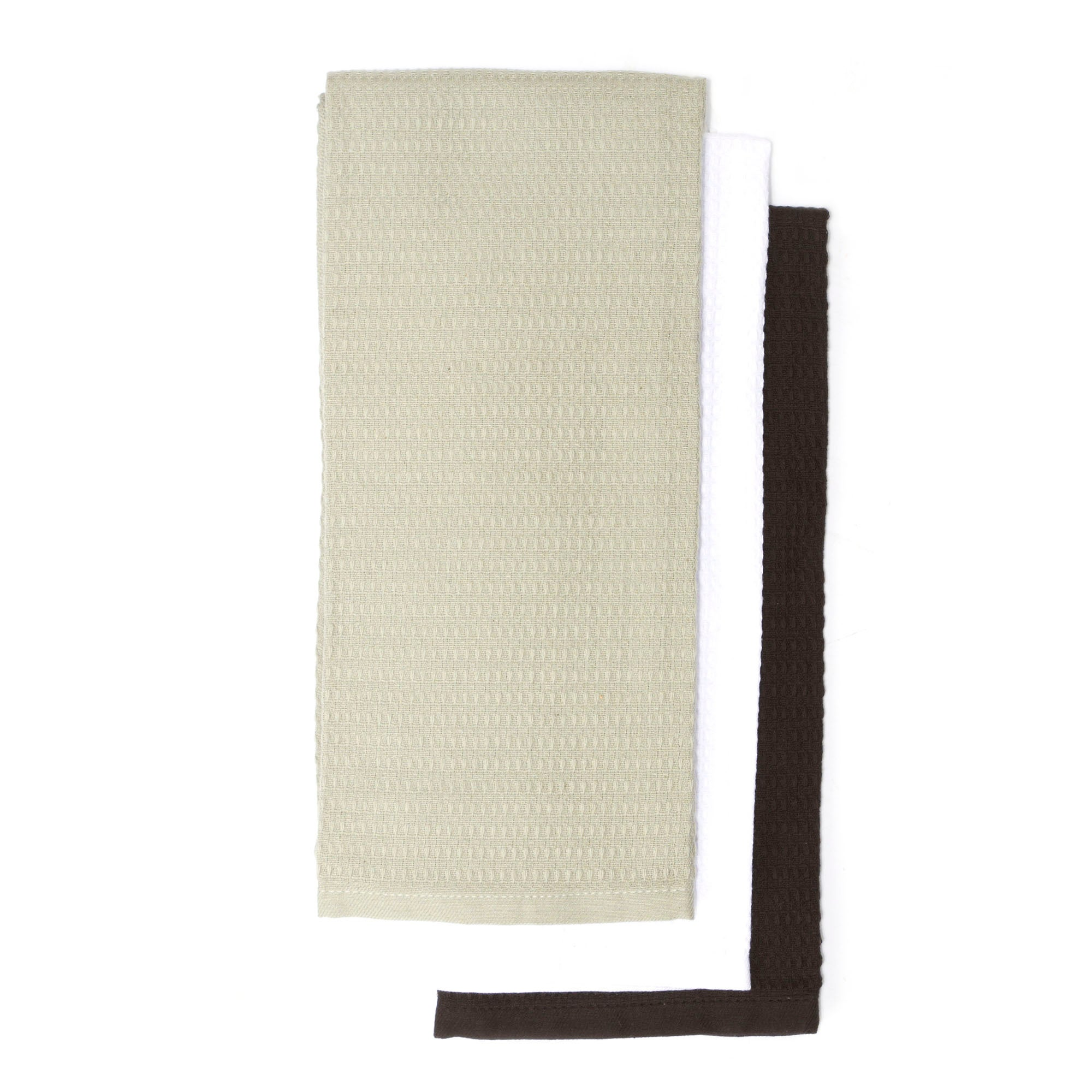 Pack of 3 Grey Waffle Tea Towels