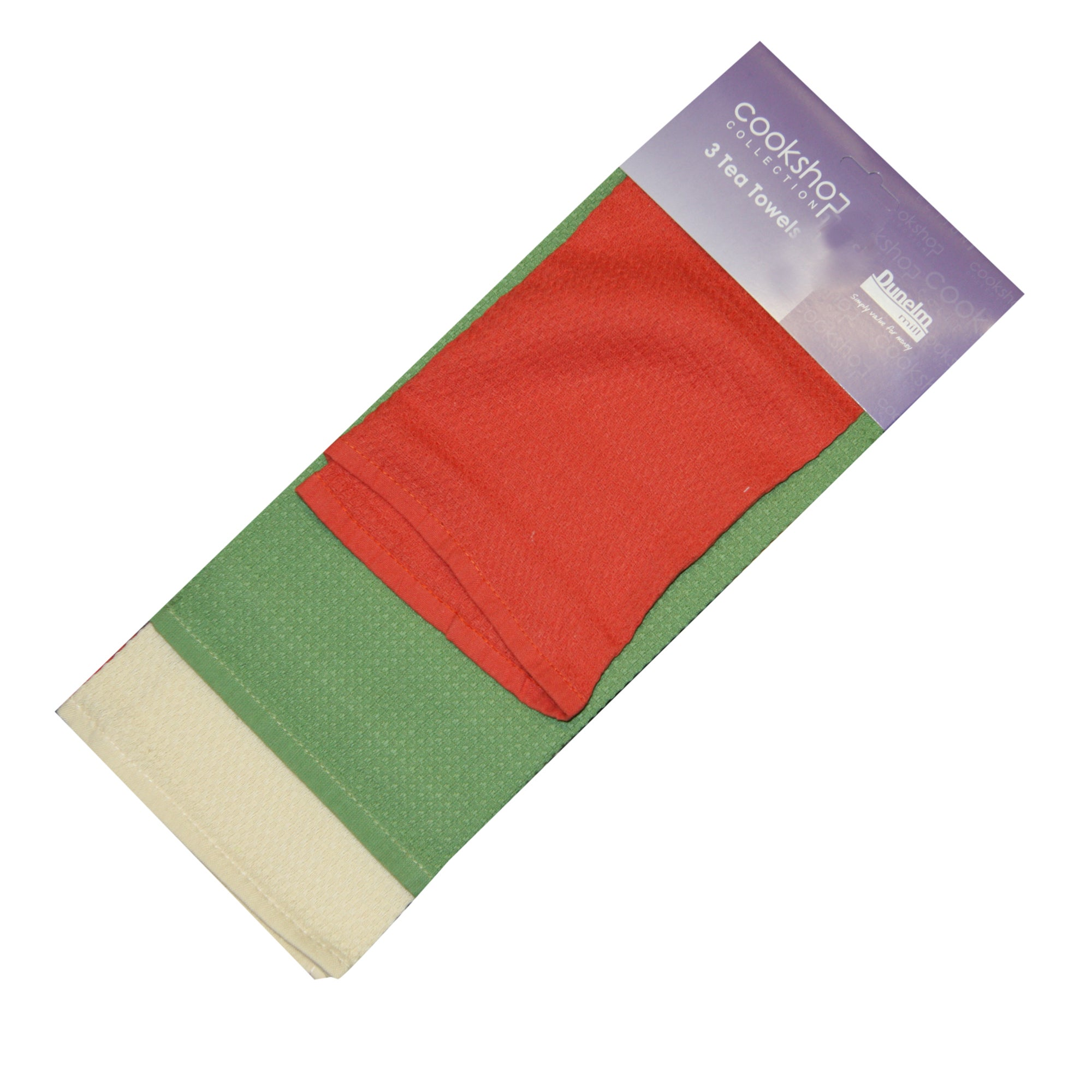 Pack of 3 Terracotta Waffle Tea Towels