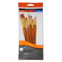 Daler Rowney Simply Set of 7 Gold Taklon Brushes